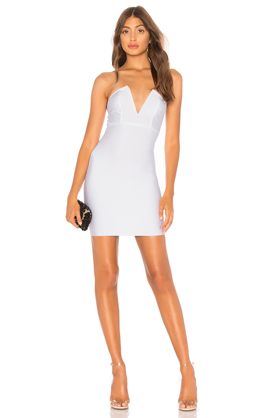 by the way. Eileen Bandage Tube Dress in White
