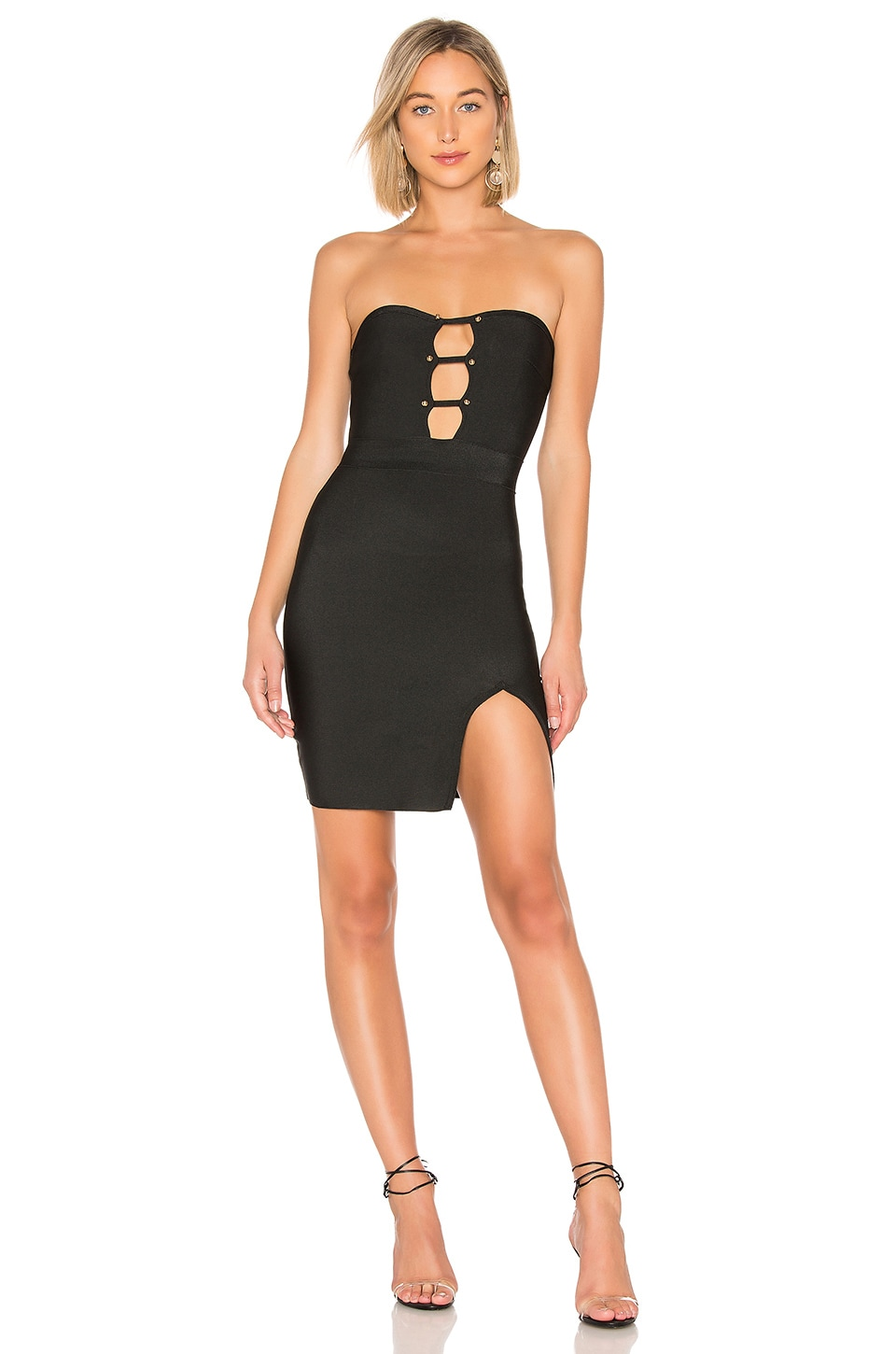 GIGI STUDDED BANDAGE DRESS