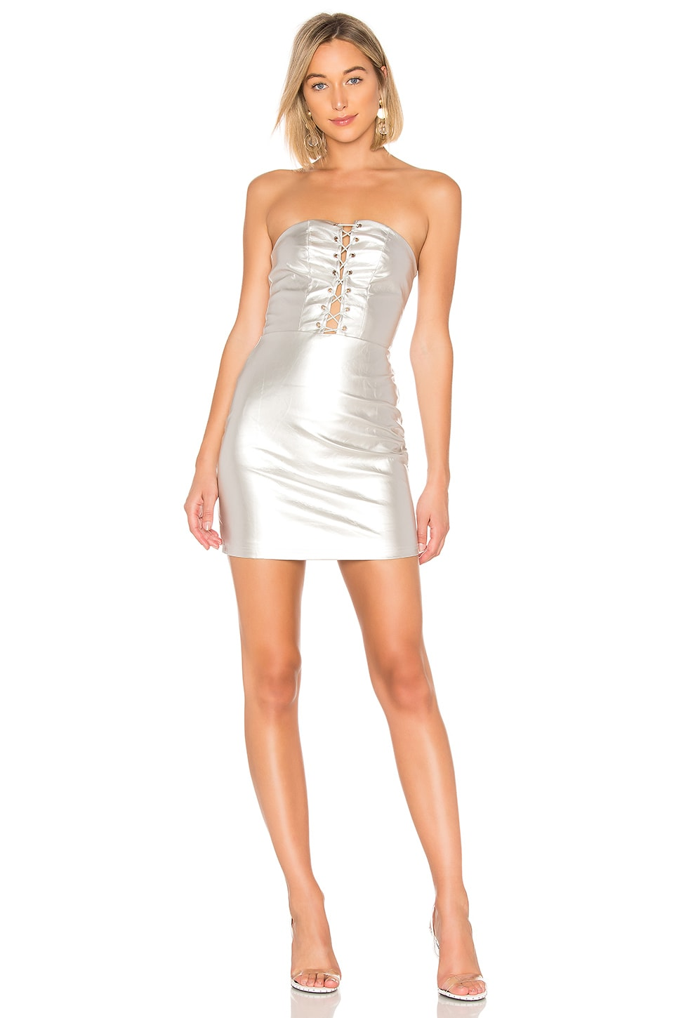 Minka Lace Up Tube Dress
