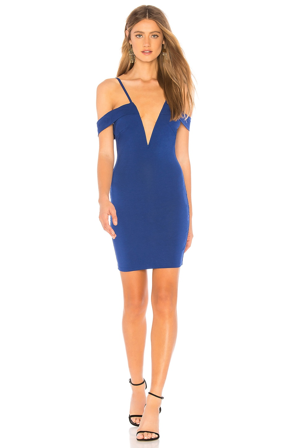 Avril Deep V Cut Out Dress