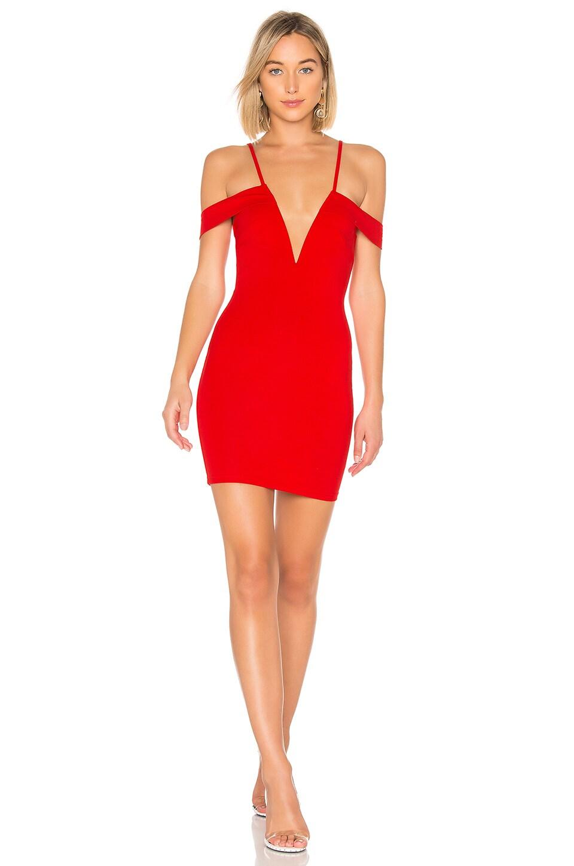 Avril Deep V Cut Out Dress