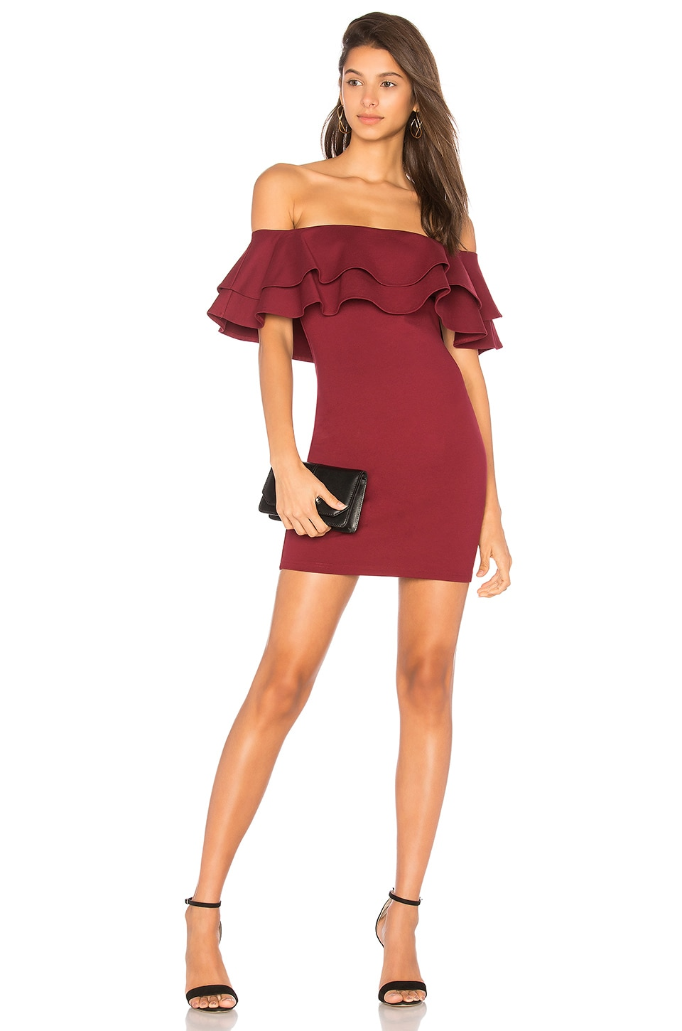 by the way. Rhiannon Tiered Mini Dress in Red
