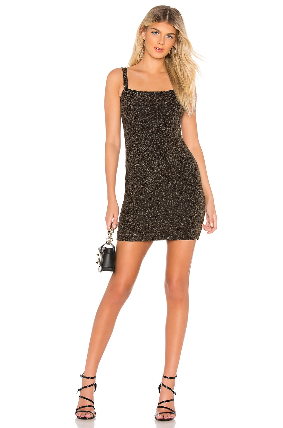 by the way. Melissa Sparkle Mini Dress in Black & Gold