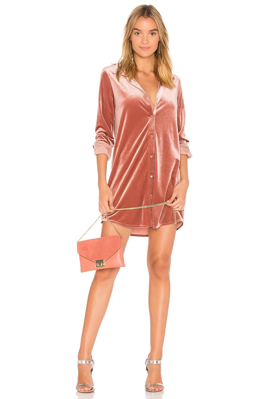 by the way. Vella Velvet Mini Dress in Blush