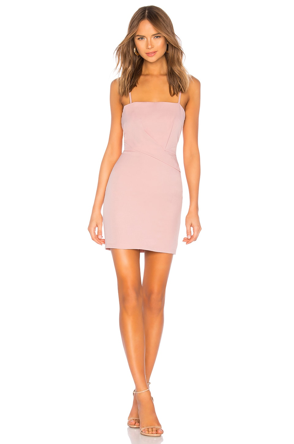 superdown Sophy Fitted Mini Dress in Pink