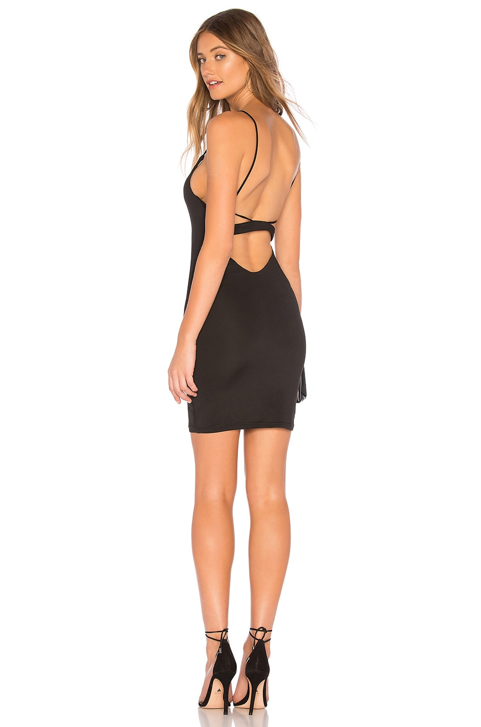 by the way. Jonah Back Strap Mini Dress in Black