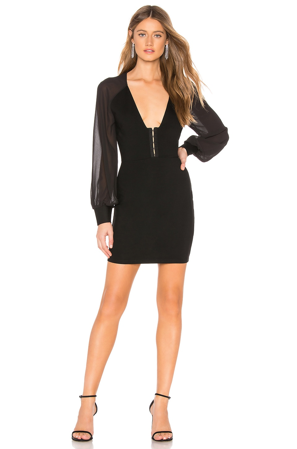 by the way. Cher Blousant Sleeve Dress in Black