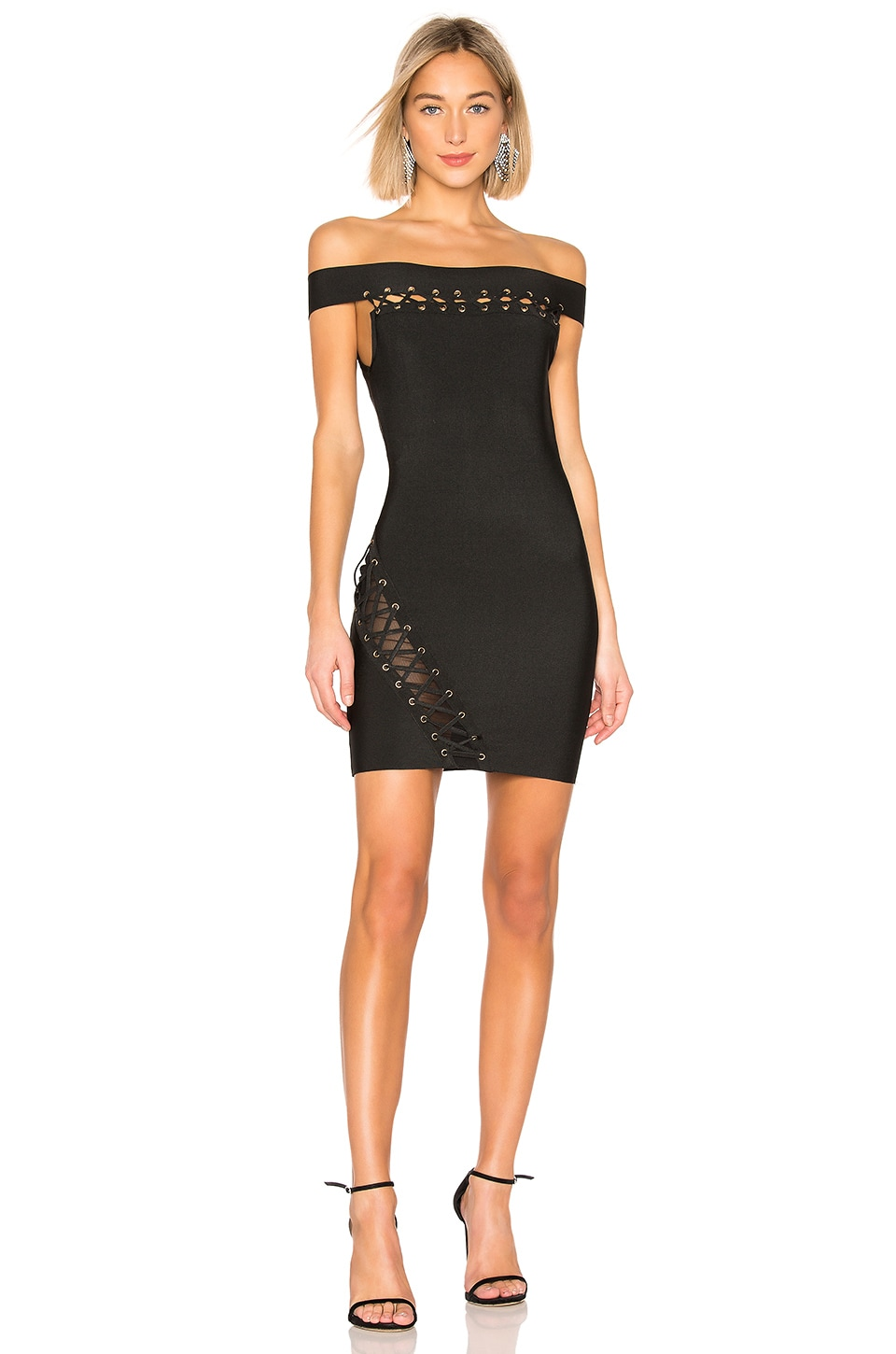 by the way. Ximea Off Shoulder Bandage Dress in Black