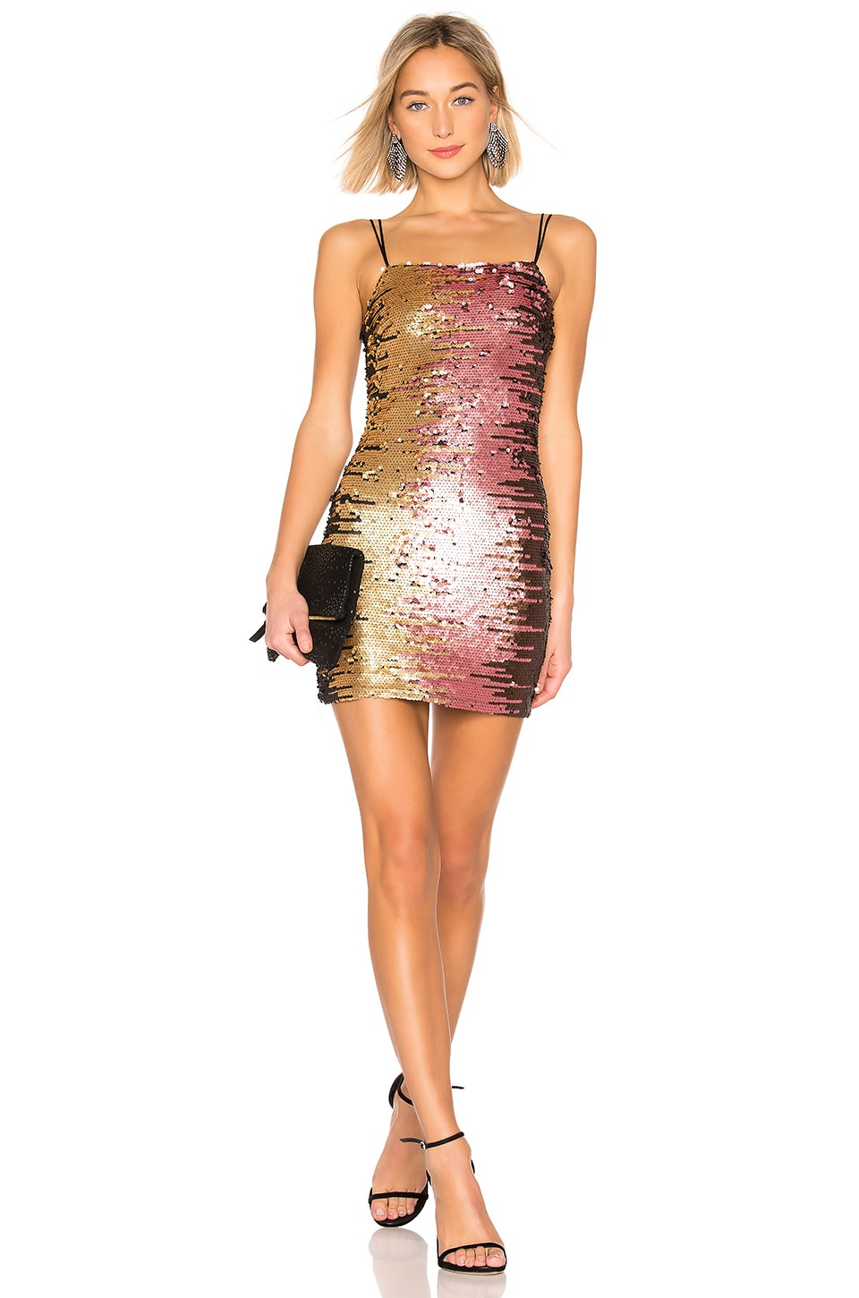 by the way. Steena Sequin Dress in Pink Multi