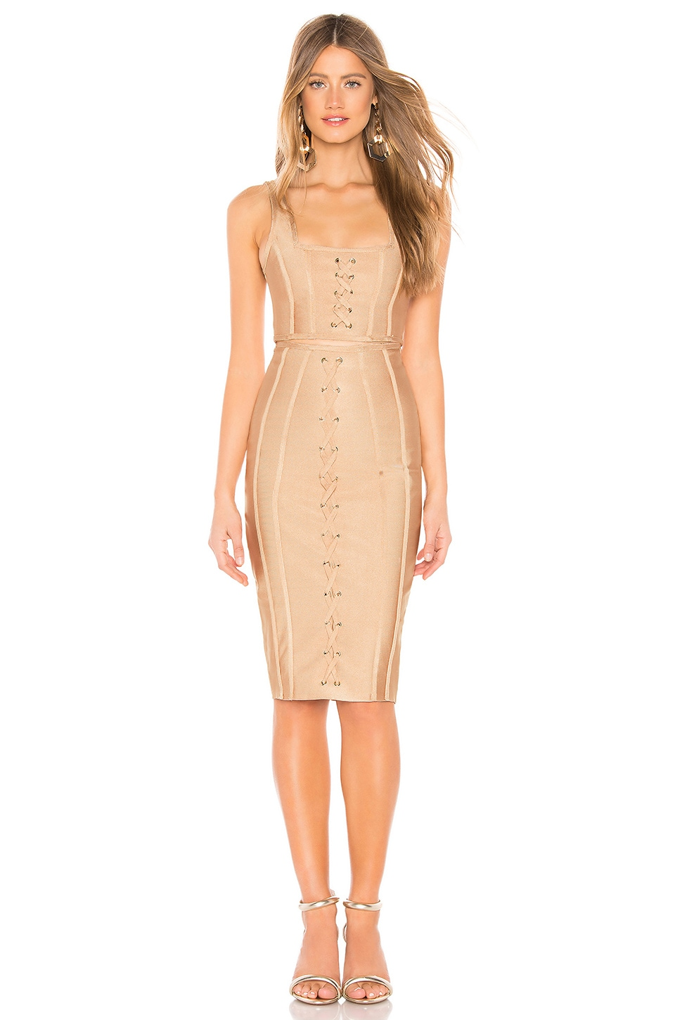 by the way. Ryann Bandage Skirt Set in Nude