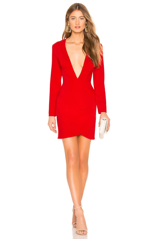 Emile Deep V Wrap Mini Dress