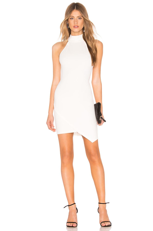 by the way. Tegan Wrap Mini Dress in White