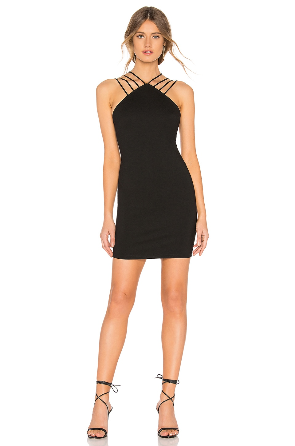 by the way. Baylee Strap Mini Dress in Black