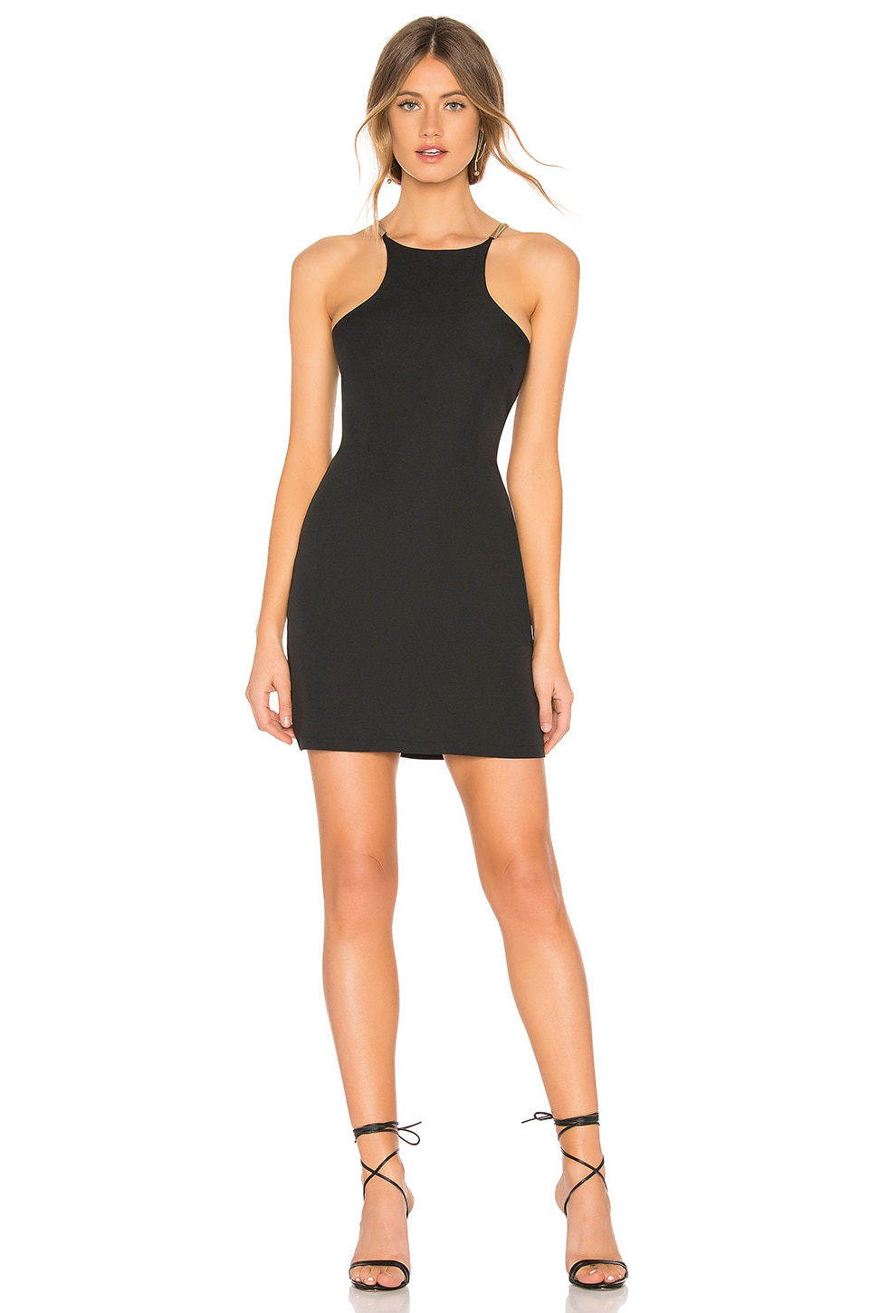 by the way. Tessa Metal Strap Dress in Black