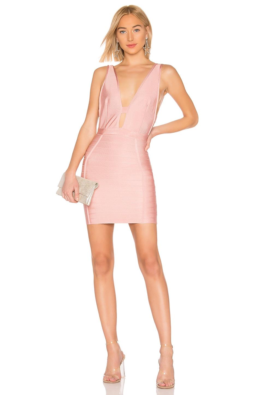 by the way. Alana Bandage Mini Dress in Mauve