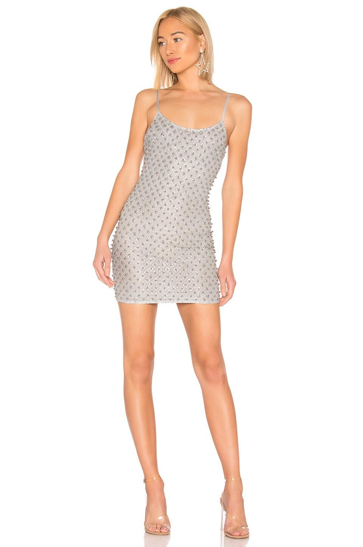 by the way. Rachel Glitter Mini Dress in Silver