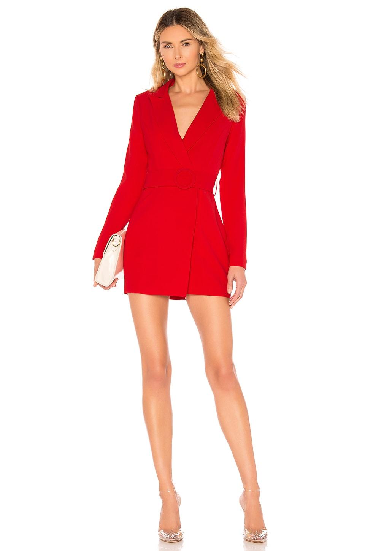 superdown Joan Belted Blazer Dress in Red