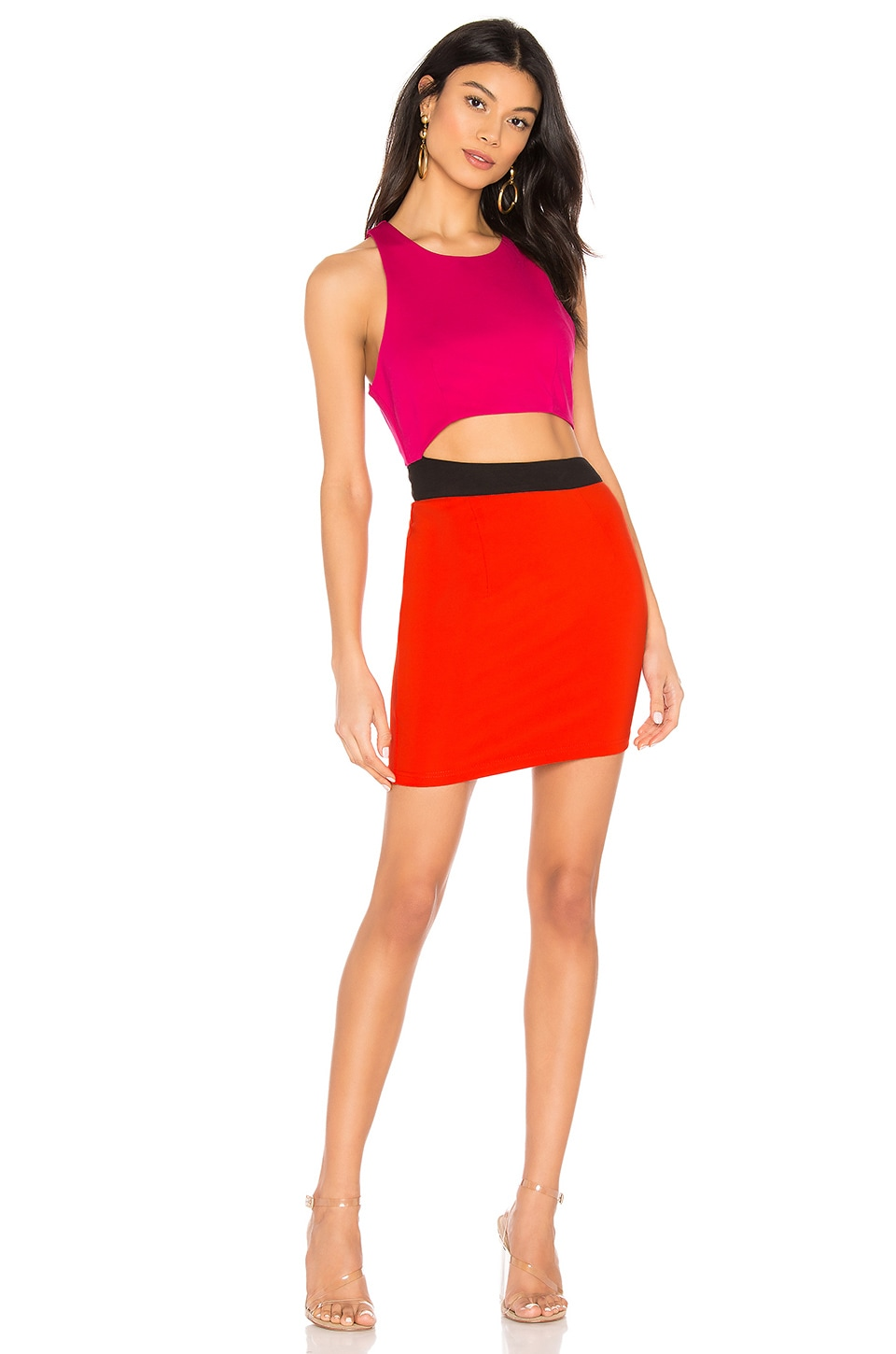 by the way. Mishel Color Block Dress in Pink & Red