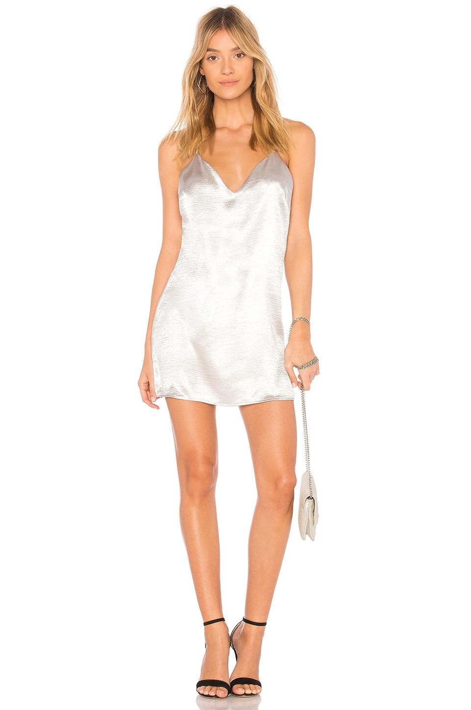 superdown Lucia Metallic Mini Dress in Silver