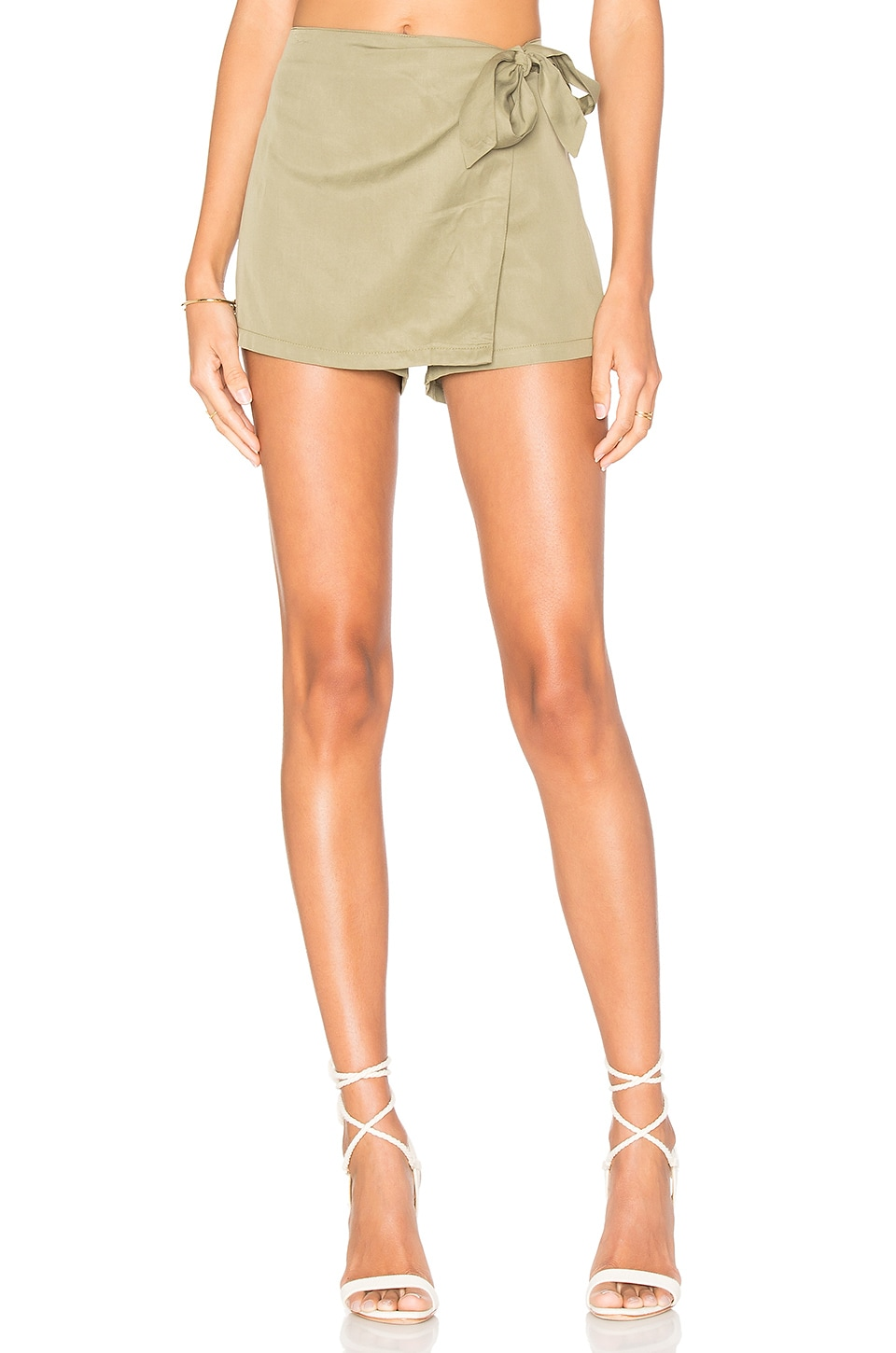 superdown Trina Wrap Skort in Army