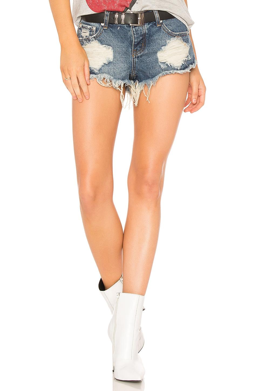 Veronica Super low Rise Denim Shorts