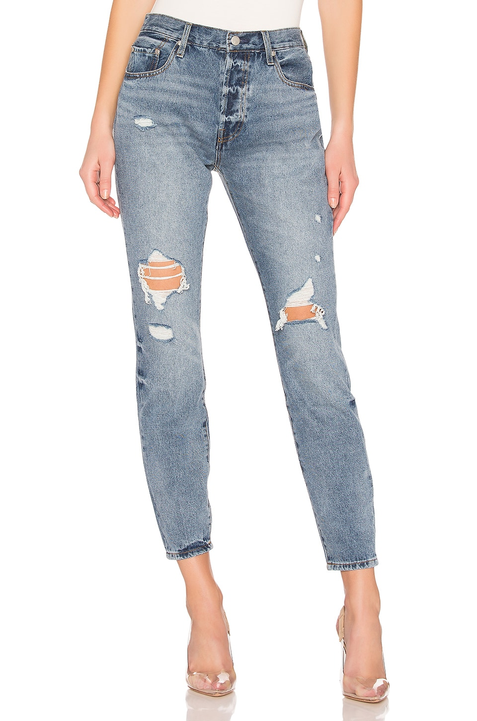 by the way. Jagger Skinny Jeans in Mid Blue Wash