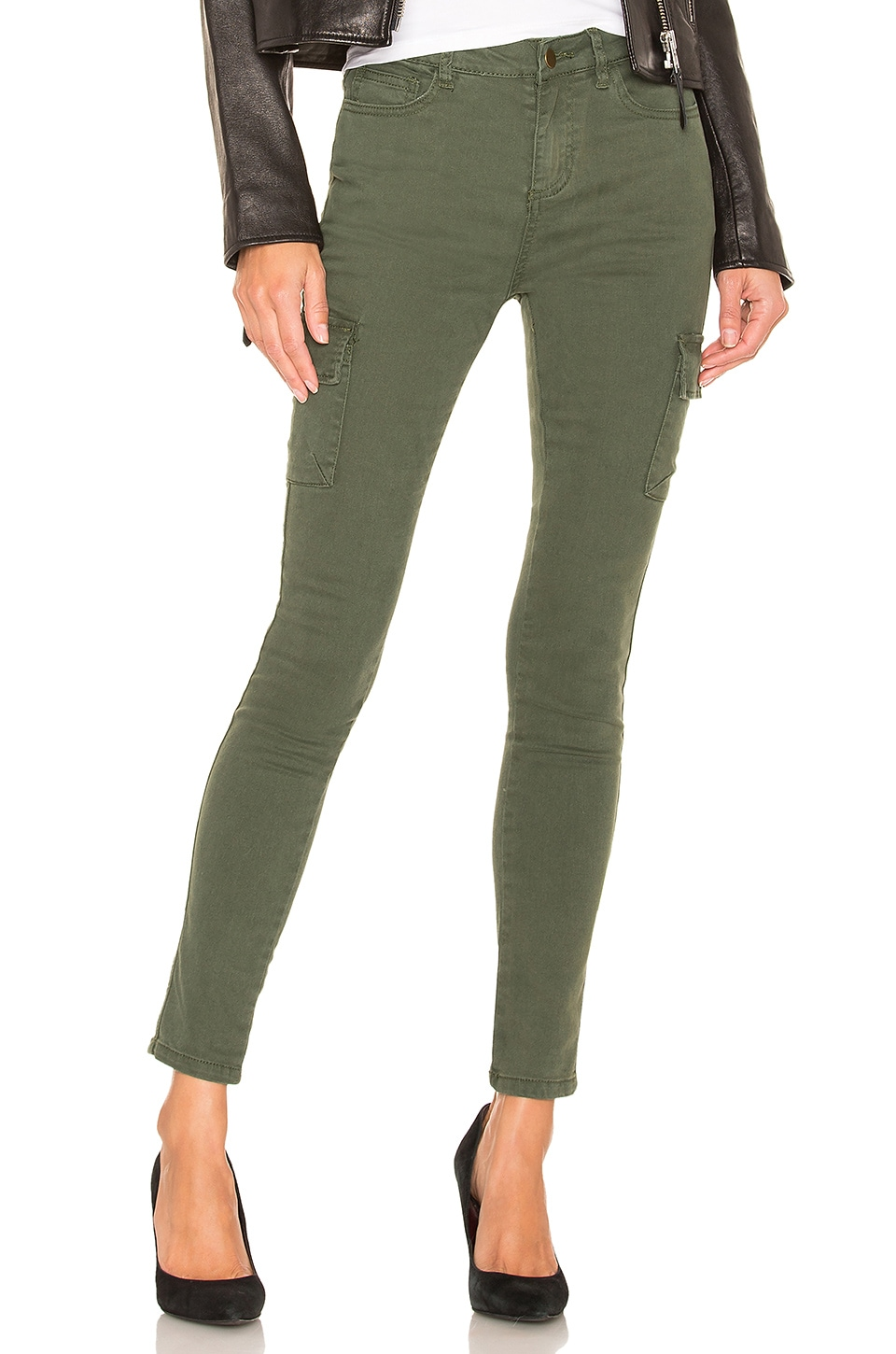 by the way. Kate Skinny Cargo Jeans in Olive