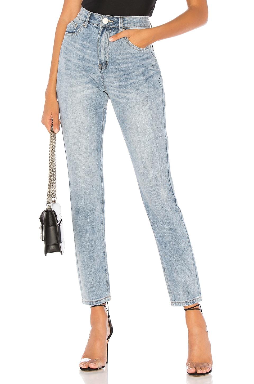 by the way. Laura Boyfriend Denim Jeans in Mid Blue Wash