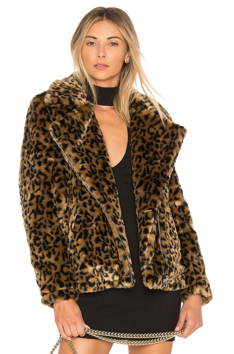 by the way. Dallas Faux Fur Coat in Leopard