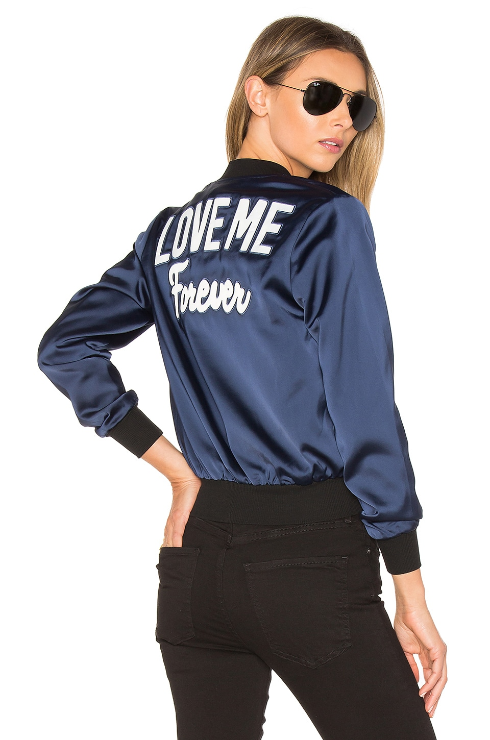by the way. Love Me Bomber in Navy