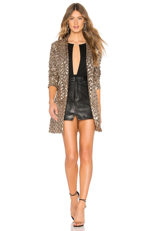 superdown Brooke Sequin Jacket in Gold Sequin