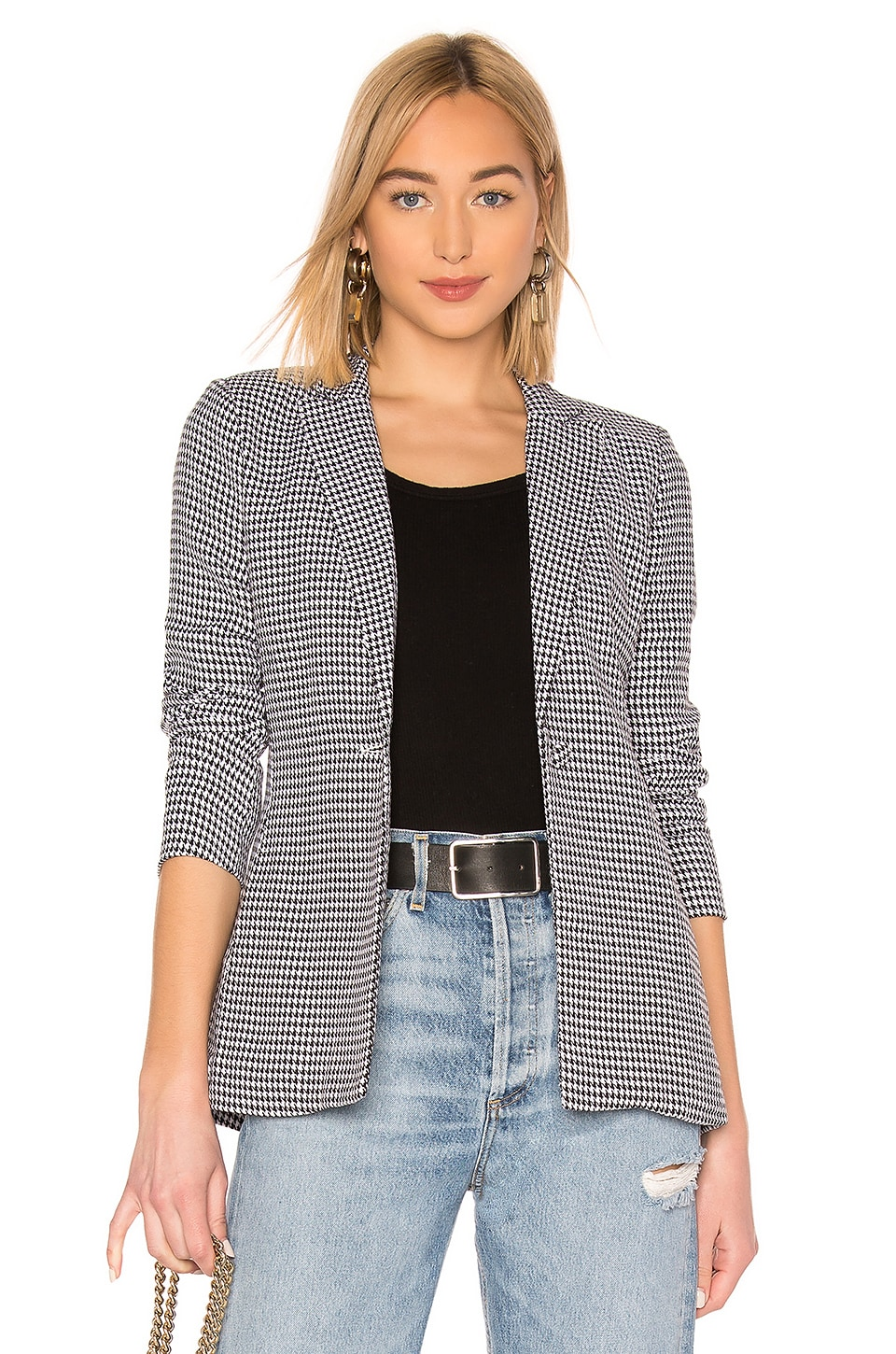 by the way. Shaira Oversized Blazer in Houndstooth