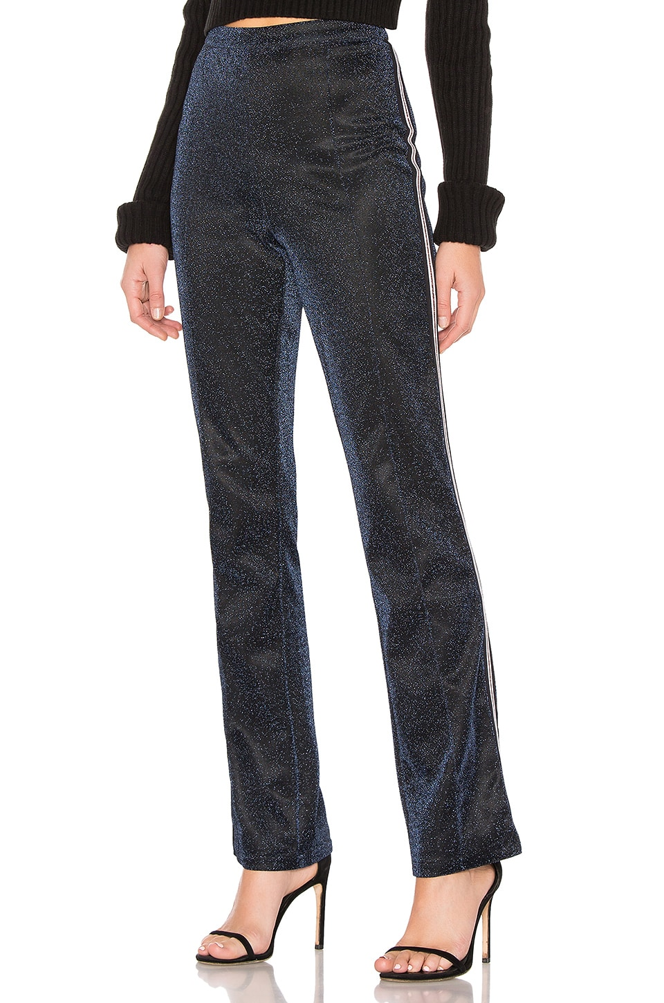 by the way. Payton Side Stripe Pants in Navy Sparkle