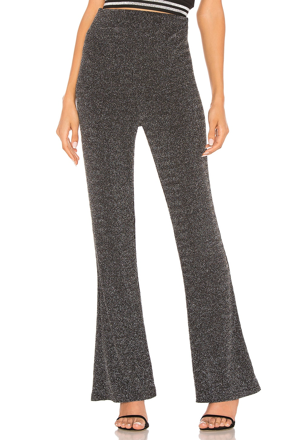 by the way. Virgo Flare Pants in Silver