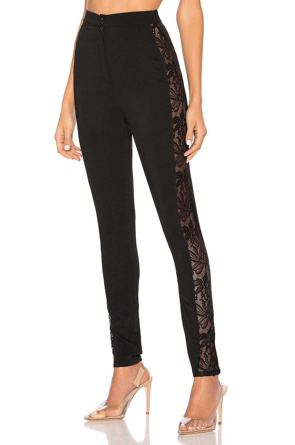 by the way. Anatasia Lace Panel Pant in Black