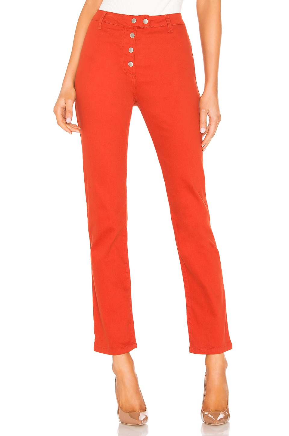 by the way. Veronica Snap Front Pant in Rust