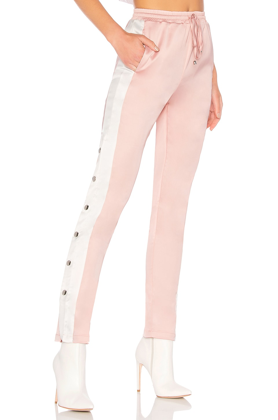 by the way. Uma Side Snap Track Pant in Blush