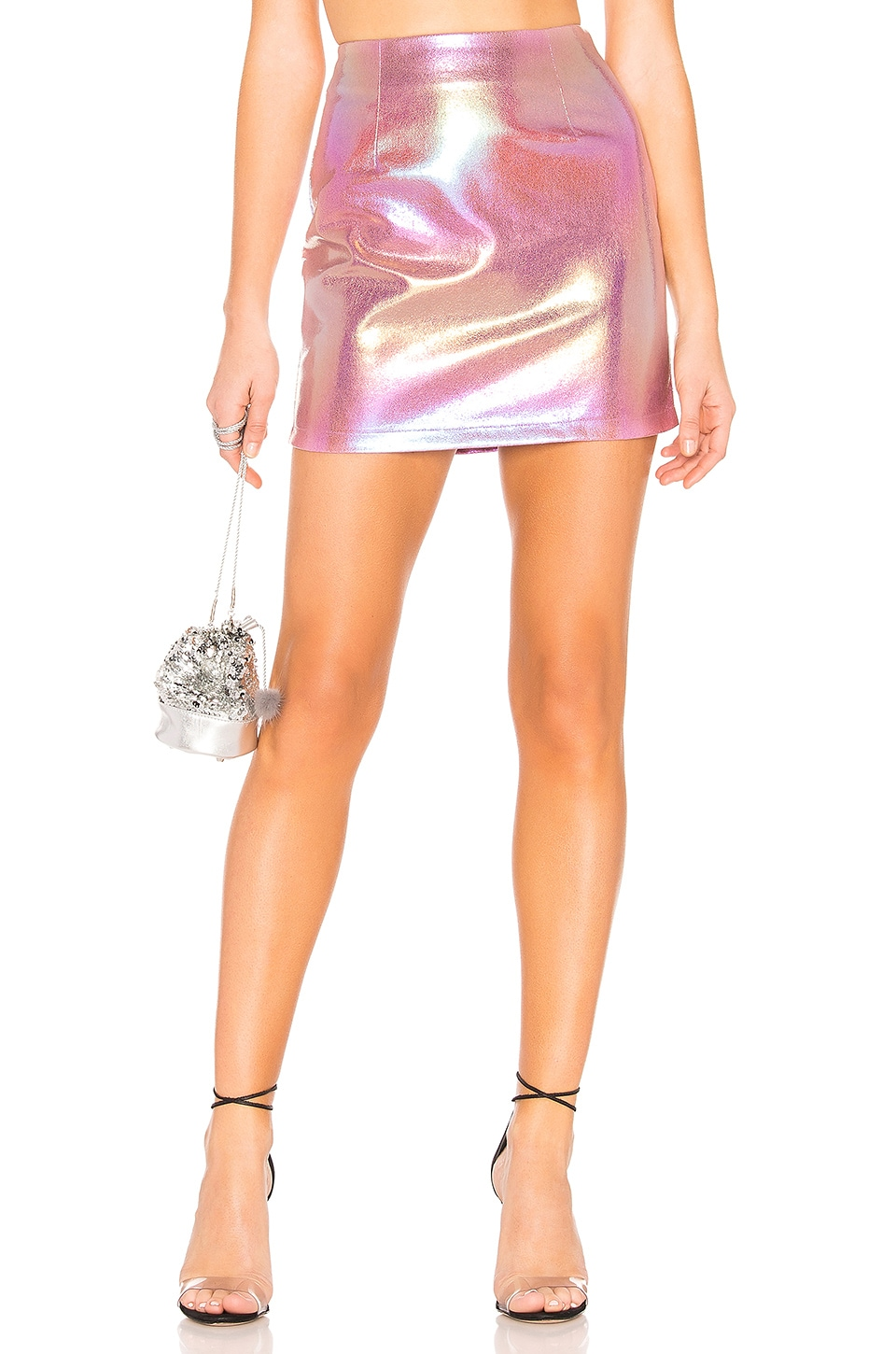 by the way. Brandi Mini Skirt in Pink