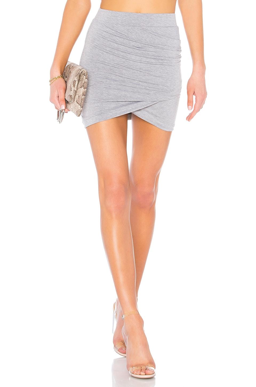 superdown Arden Ruched Mini Skirt in Heather Grey