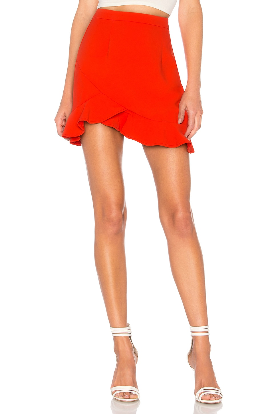 superdown Milan Ruffle Mini skirt in Orange