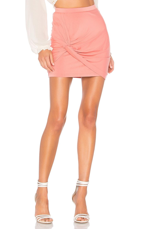 by the way. Kori Twist Mini Skirt in Rose