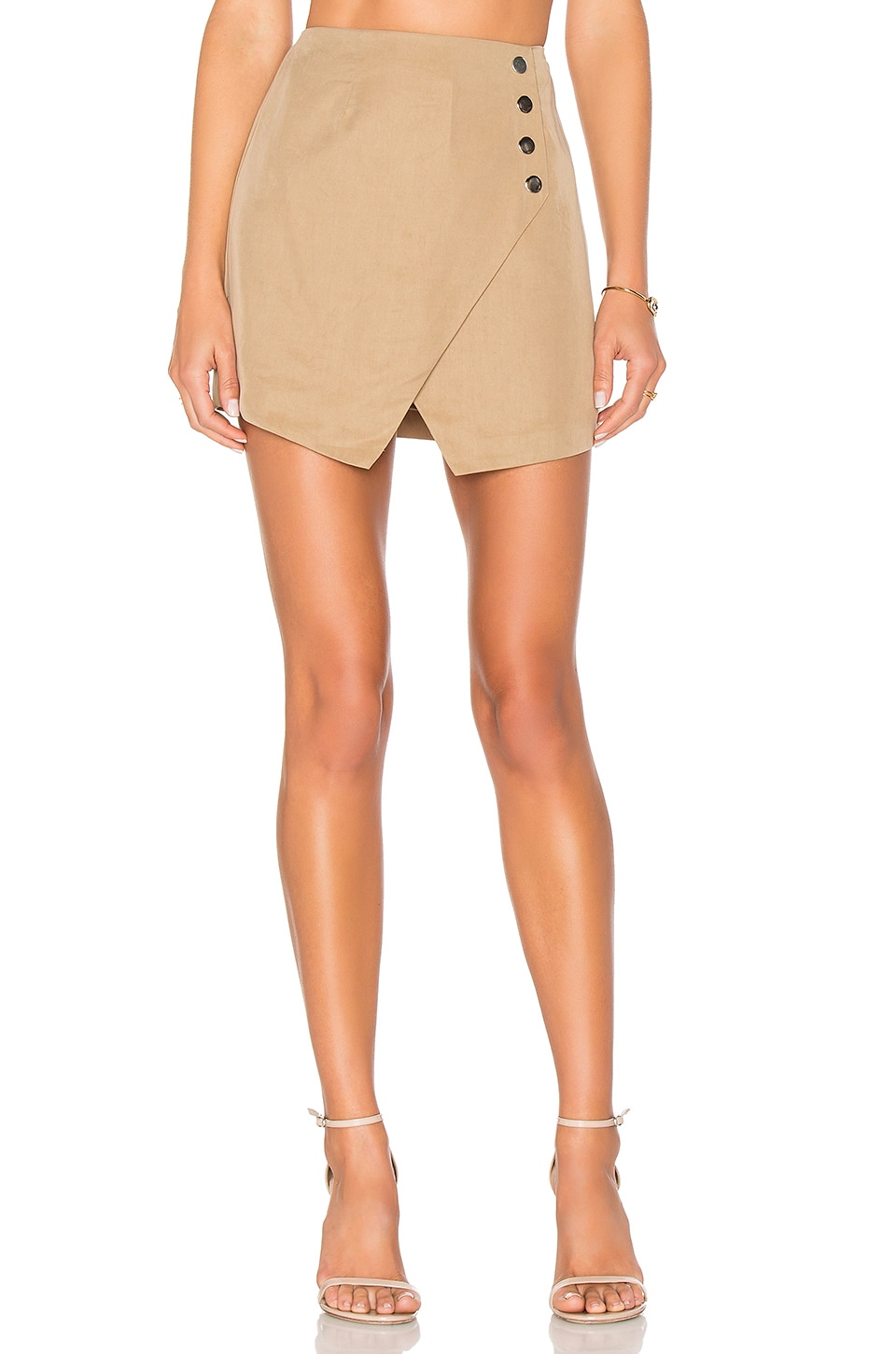 by the way. Scout Wrap Skirt in Khaki