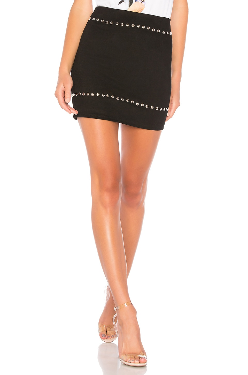 by the way. Kole Studded Mini Skirt in Black
