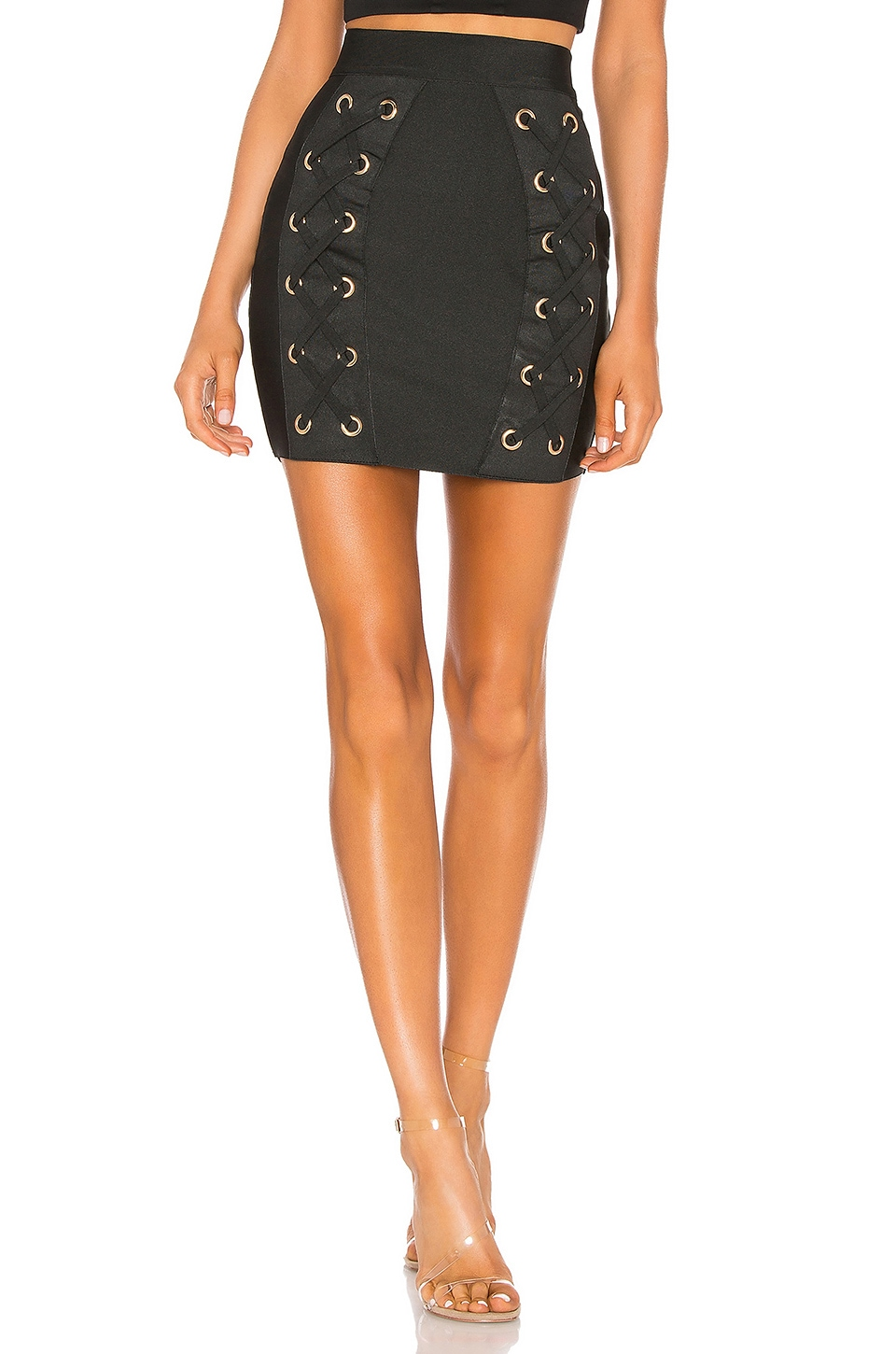 BY THE WAY. KENDRA GROMMET BANDAGE SKIRT