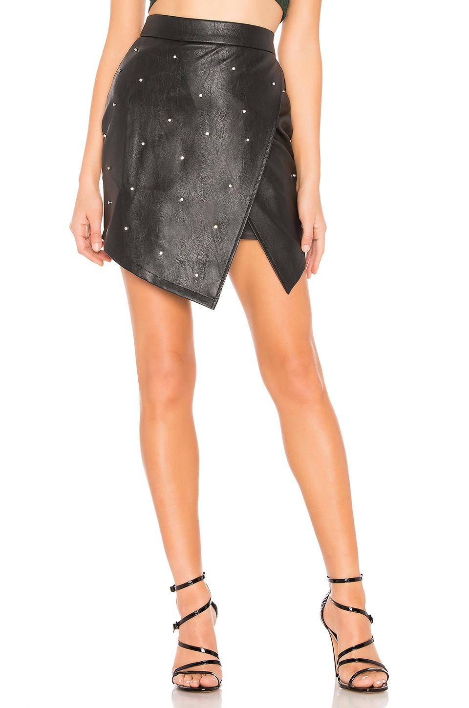 by the way. Ashlyn Rhinestone Skirt in Black