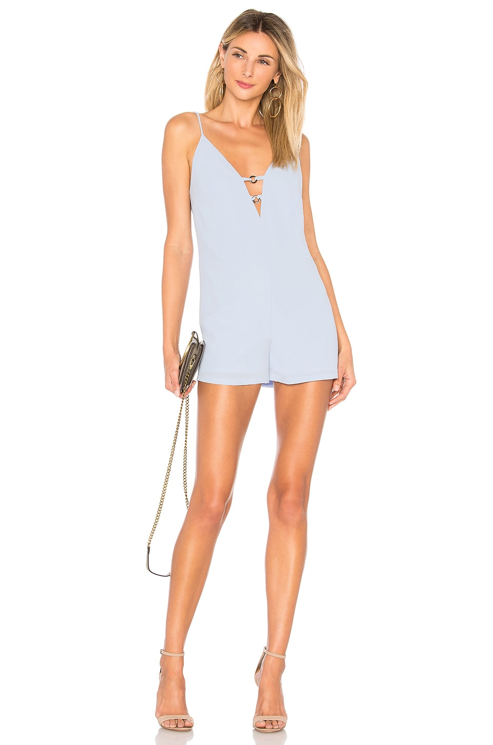 by the way. Kylan Double O Ring Romper in Light Blue