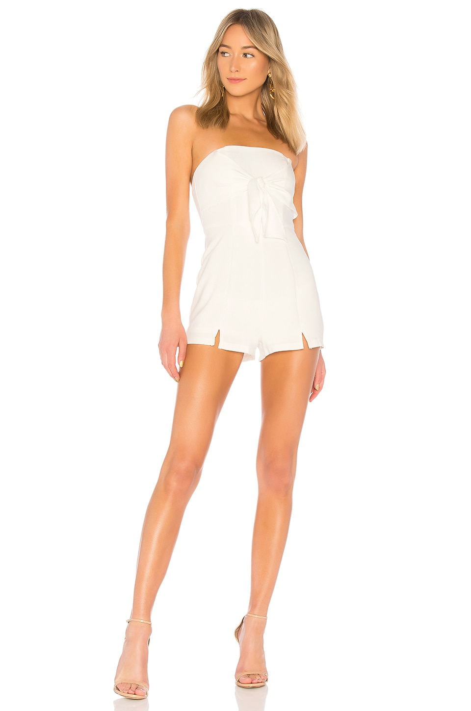 685371a12353 by the way. Suzy Tie Front Romper in White