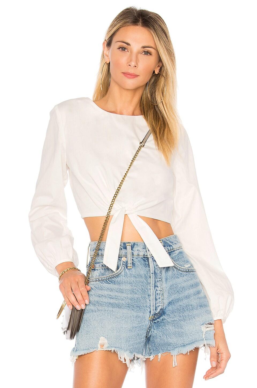 superdown Jemma Tie Front Shirt in White