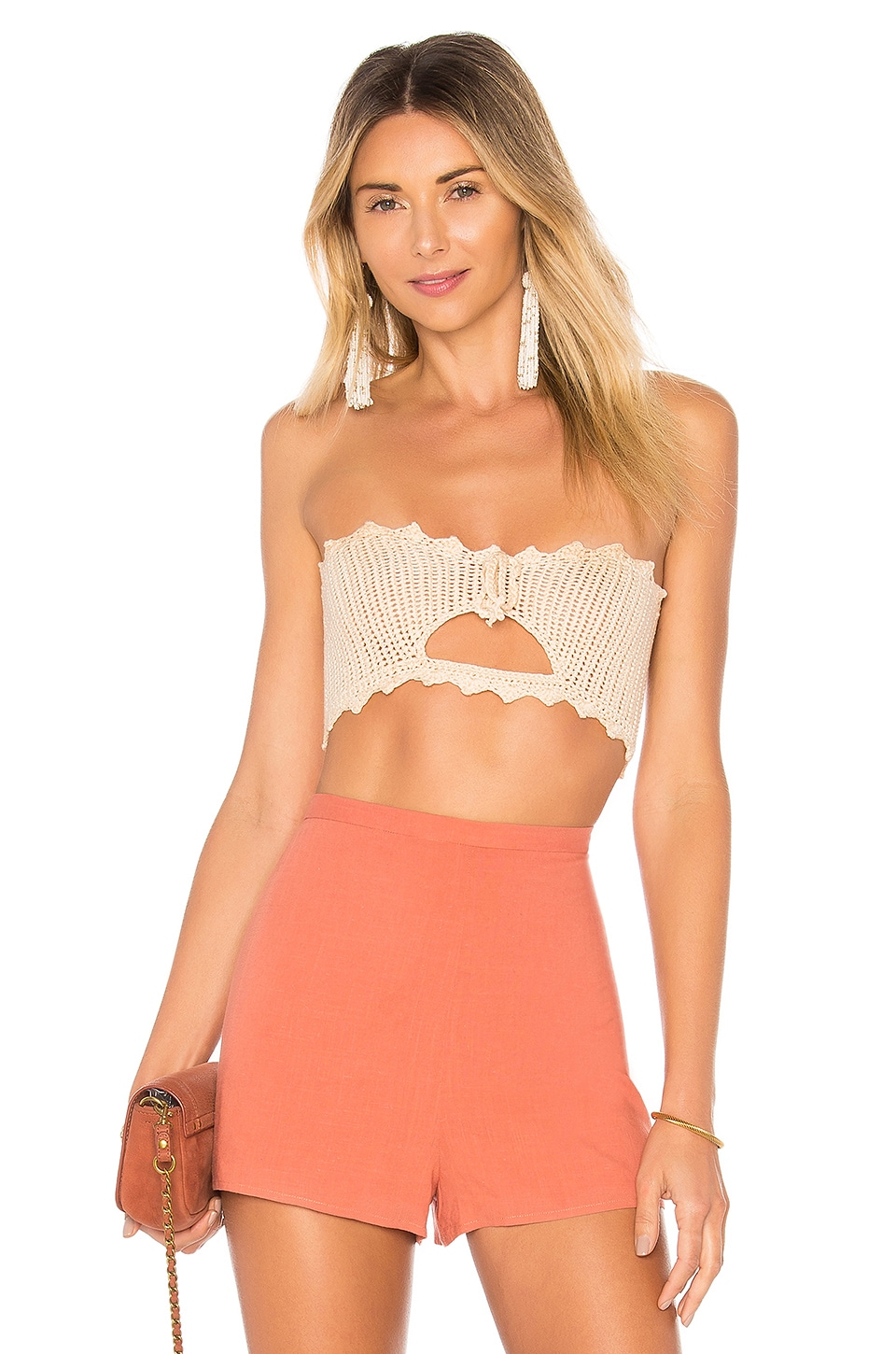by the way. Cora Crochet Crop Top in Natural