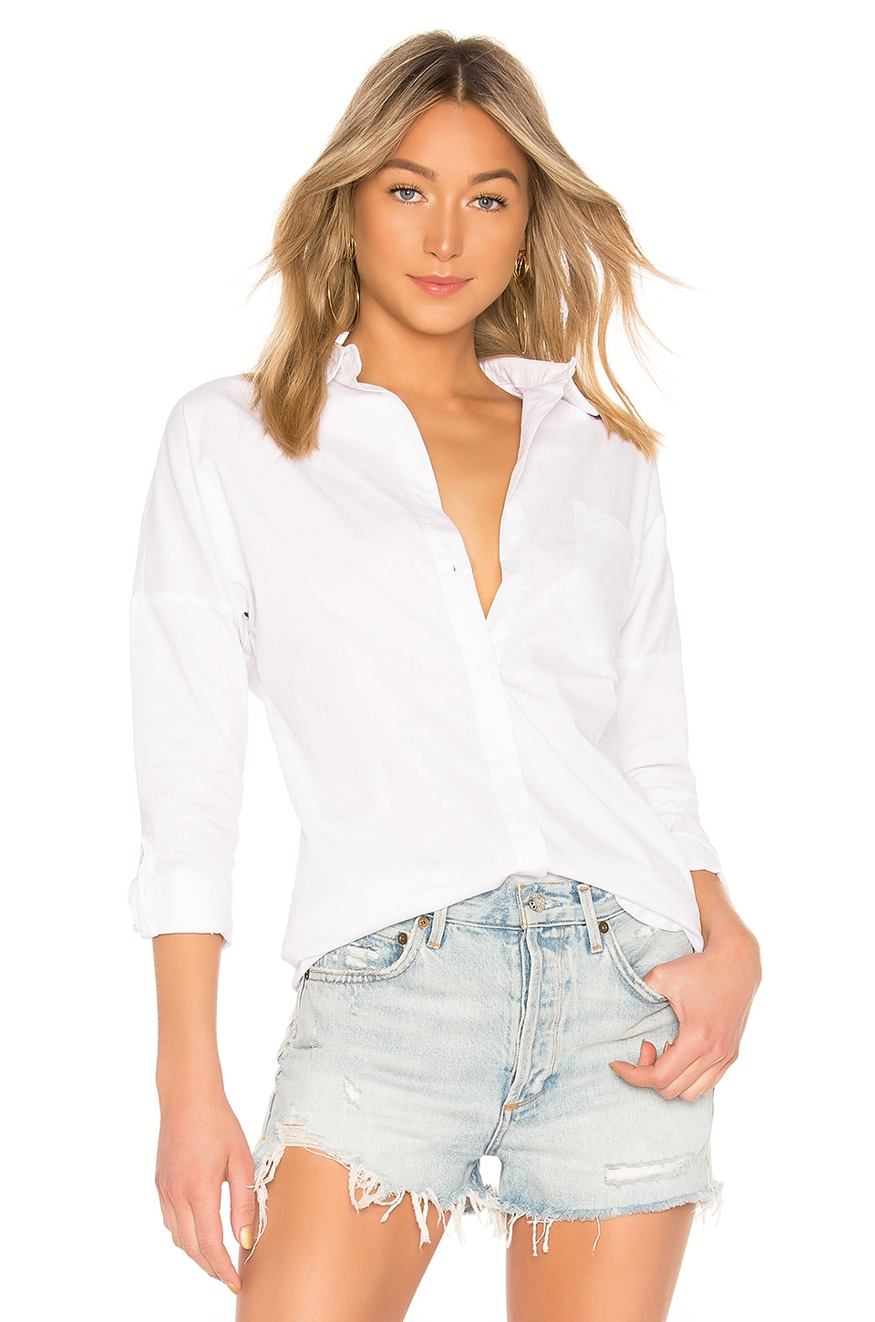 by the way. Miranda Button Up Blouse in White